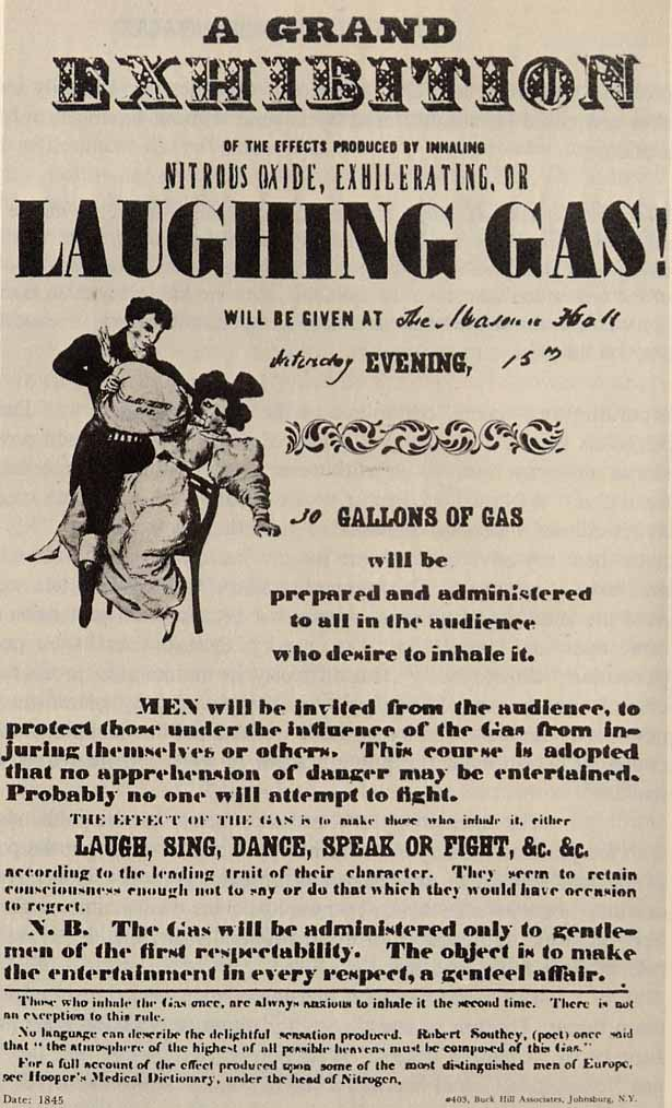 laughing gas, 'The Prescription for Scolding Wives', 1830