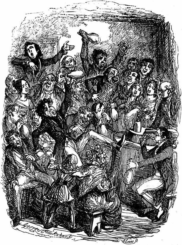 laughing gas party, 1839